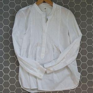 GAP white dress blouse